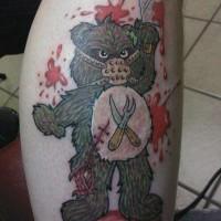 guariero ferito orsacchiotto tatuaggio