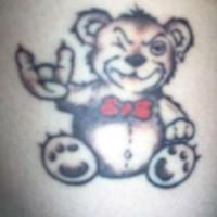 rock n roll orsacchiotto tatuaggio