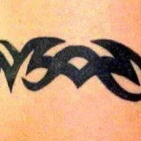 Simple tribal black  bracelet tattoo