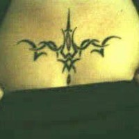 Cool black tribal tattoo on chest