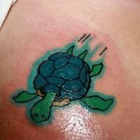 Tatuaggio piccolo la tartaruga verde