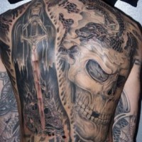 Death themed artwork tattoo