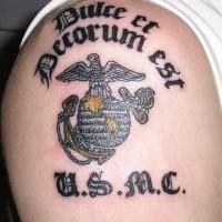 Usmc symbol with motto tattoo