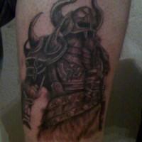 Big and strong viking warrior tattoo