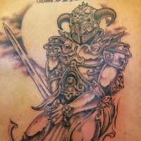 Nice viking tattoo art on back