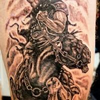Epic horseman of death tattoo