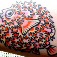 Tattoo with pretty nice fish spike
