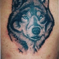 Wolf with good eyes tattoo
