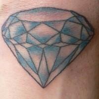 Le tatouage sur le poignet intérieur avec un diamant coloré