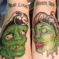 Zombie love tattoo