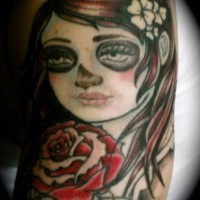 Zombie girl with rose