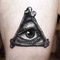 Tatouage d'un œil