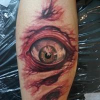 Un oeil le tatouage par graynd