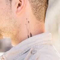 Three interesting small arrow tattoo for man