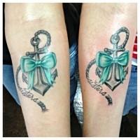 ancoraggio tradizionale tatuaggio per sorelle