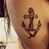 ancoraggio tradizionale tatuaggio per donne