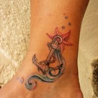ancoraggio tradizionale nautico tatuaggio