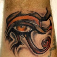 Tribal egyptian eye tattoo