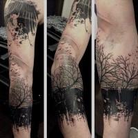 Unterarm tattoo mann wald