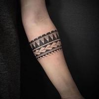 3d Comme Tatouage D Avant Bras D Encre Noire De L Ornement