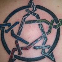 Unusual irish pentacle tattoo