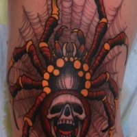 Very colorful  spider tattoo