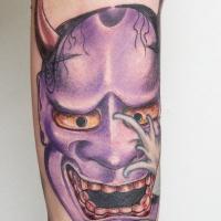 Violet demon tattoo