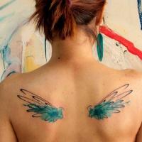Watercolor wings by koraykaragozler