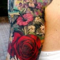 bellissima idea fiori e farfalle manicotto