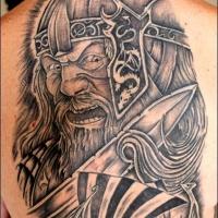 meravigliosa idea di viking tatuaggio sulla schiena
