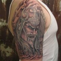 meraviglioso viking tatuaggio mezza manica