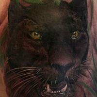 bellissimo acquerello nero pantera tatuaggio