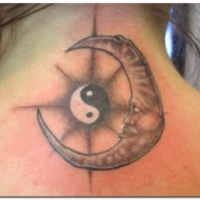 Yin yang and the moon