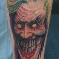 Tatuaggio colorato il zombo joker