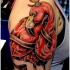 Red bird tattoo designs for men on sleeve