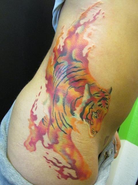 Tiger Horse Tattoo Tiger Tender Watercolor Tattoo