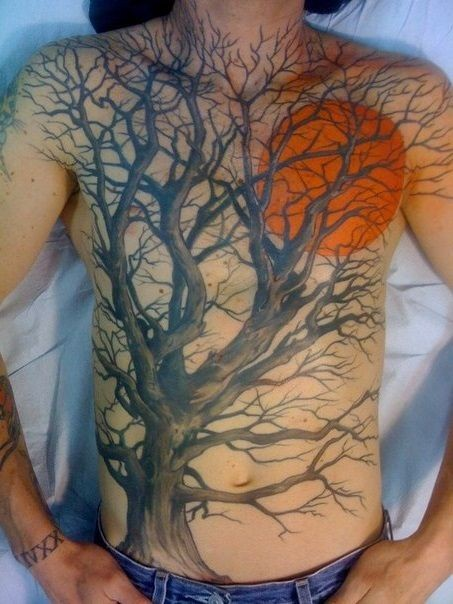 red moon tattoo - photo #14