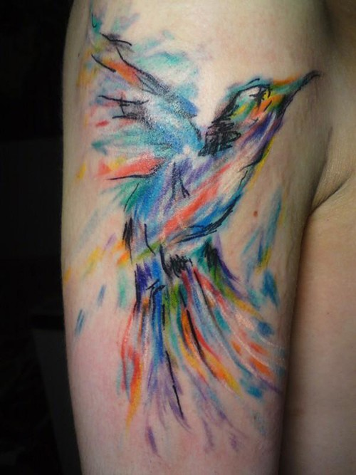 Watercolor tattoo design