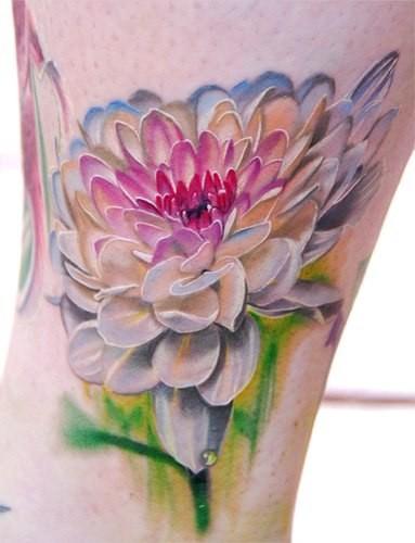 acquarelli elegante fiore rosa tatuaggio