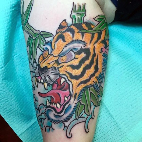 Watercolor Bamboo Tattoo: Awesome Tiger Images