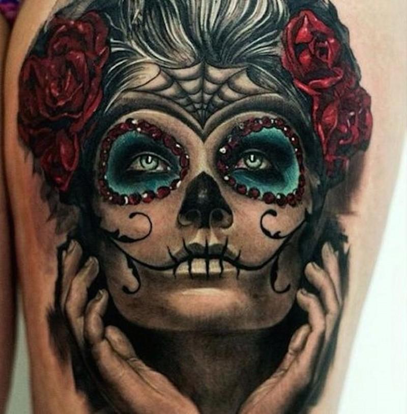 Wonderful santa muerte girl tattoo - Tattooimages biz