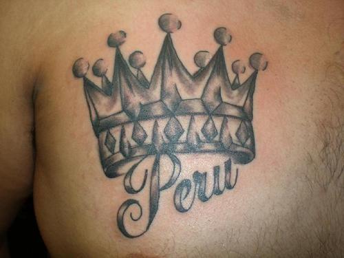 parola peru e corona di re tatuaggio